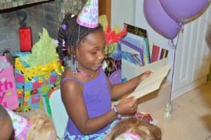 Birthday girl age six