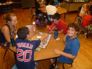 Children learning social skills at day camp